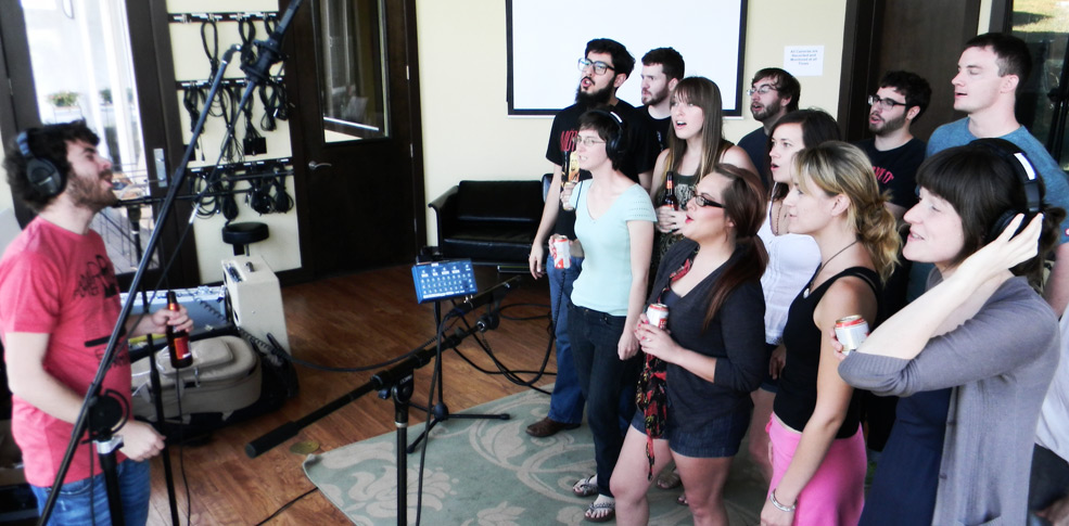 Choral vocals in the Live Room